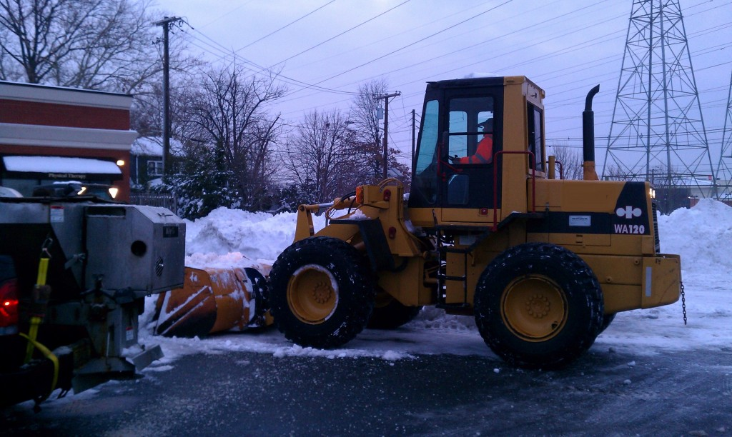 Loader Moving Snow